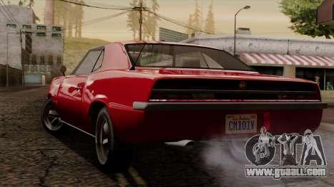 GTA 5 Declasse Vigero IVF for GTA San Andreas back left view