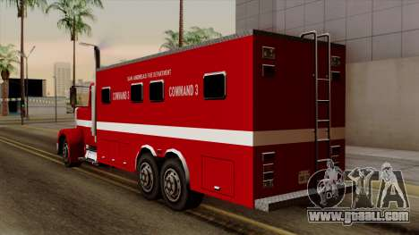 FDSA Mobile Command Post Truck for GTA San Andreas left view