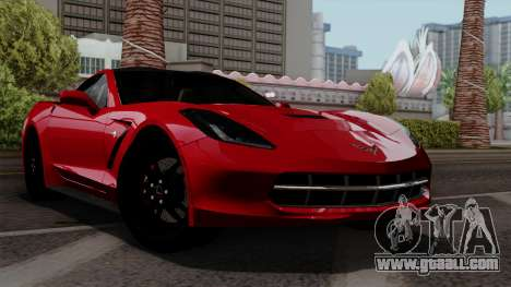Chevrolet Corvette C7 Stingray 1.0.1 for GTA San Andreas inner view