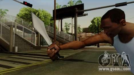 Throwing knife for GTA San Andreas third screenshot