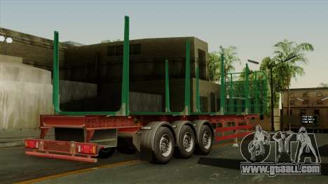 Trailer Cargos ETS2 New v1 for GTA San Andreas left view