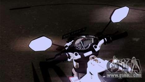 Yamaha Vixion Advance Lominous White for GTA San Andreas right view