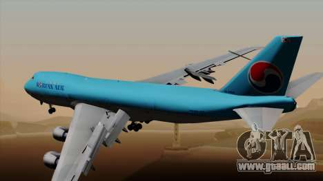 Boeing 747 Korean Air for GTA San Andreas left view