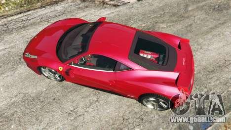 GTA 5 Ferrari 458 Italia v0.9.4 back view