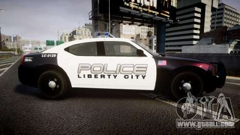 Dodge Charger Police Liberty City [ELS] for GTA 4 left view