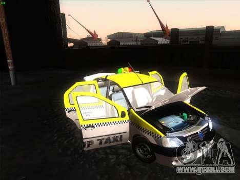 Dacia Logan Taxi UNIVIP for GTA San Andreas back left view