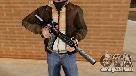M4A1 UASS for GTA San Andreas third screenshot