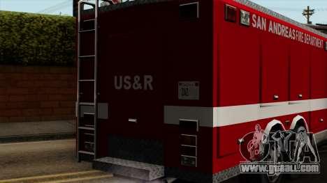 FDSA Urban Search & Rescue Truck for GTA San Andreas back view