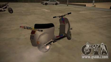 Stunt-Faggio for GTA San Andreas back left view