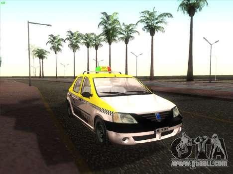 Dacia Logan Taxi UNIVIP for GTA San Andreas