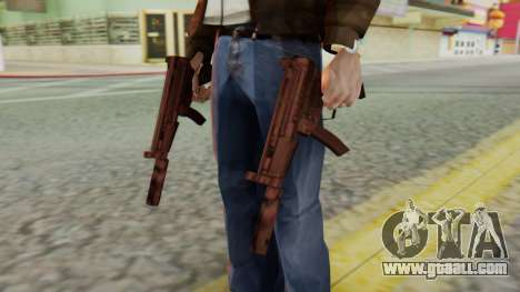 MP5K Silenced SA Style for GTA San Andreas third screenshot