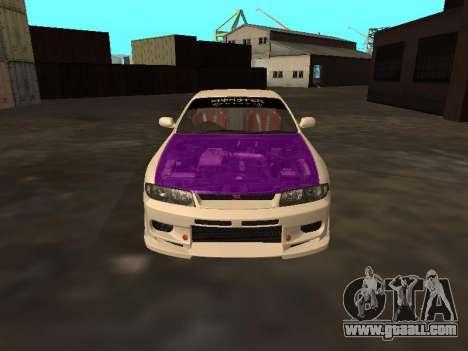 Nissan Skyline R33 Drift Monster Energy JDM for GTA San Andreas upper view