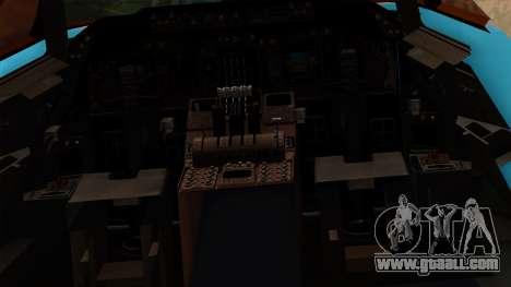 Boeing 747 Korean Air for GTA San Andreas inner view