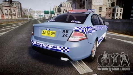 Ford Falcon FG XR6 Turbo NSW Police [ELS] v2.0 for GTA 4 back left view