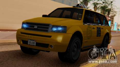 Landstalker Taxi SR 4 Style for GTA San Andreas