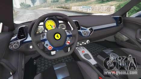 GTA 5 Ferrari 458 Italia v1.0.5 rear right side view