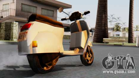 New Faggio for GTA San Andreas left view