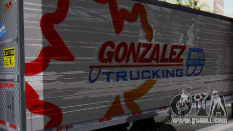 International ProStar Trailer for GTA San Andreas back left view