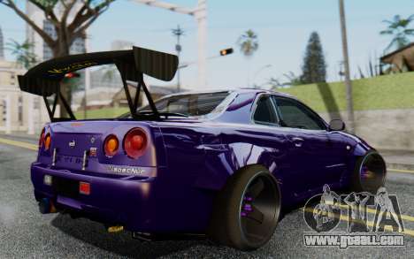 Nissan Skyline GT-R R34 Battle Machine for GTA San Andreas left view