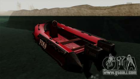 FDSA Dinghy for GTA San Andreas left view