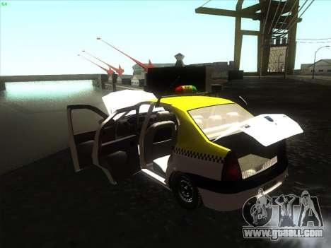 Dacia Logan Taxi UNIVIP for GTA San Andreas right view