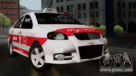 Chevrolet Aveo Taxi Poza Rica for GTA San Andreas