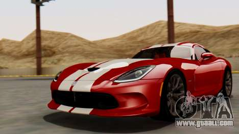 Dodge Viper SRT GTS 2013 HQLM (MQ PJ) for GTA San Andreas