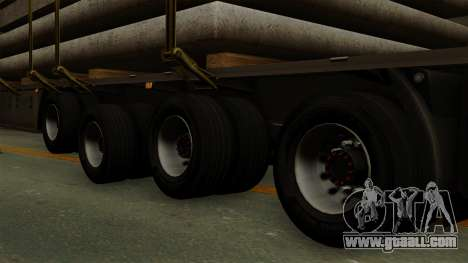 Flatbed3 Grey for GTA San Andreas back left view