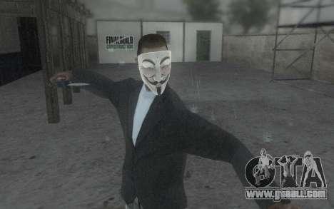 DayZ Mask for GTA San Andreas forth screenshot