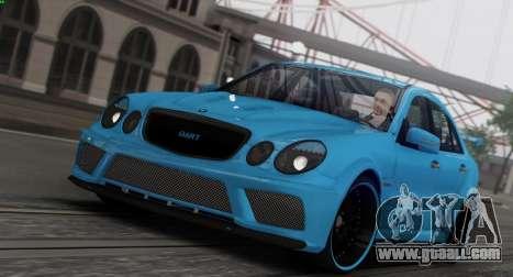 Mercedes-Benz E63 Qart Tuning for GTA San Andreas interior