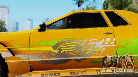 Elegy Supra PJ for GTA San Andreas back left view