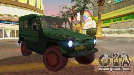 Mercedes-Benz G Wolf Croatian Army for GTA San Andreas