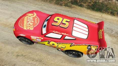 GTA 5 Lightning McQueen [Beta] back view