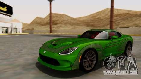Dodge Viper SRT GTS 2013 HQLM (MQ PJ) for GTA San Andreas back view