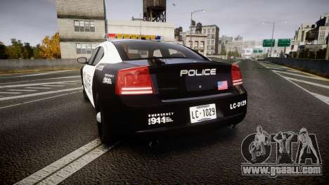 Dodge Charger Police Liberty City [ELS] for GTA 4 back left view