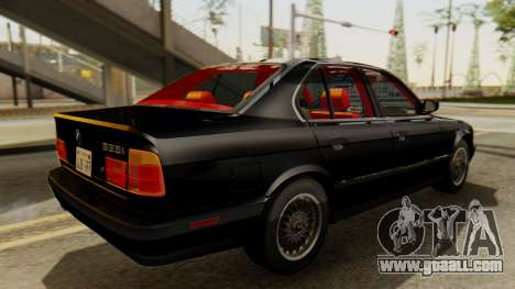 BMW 535i E34 1993 for GTA San Andreas back left view