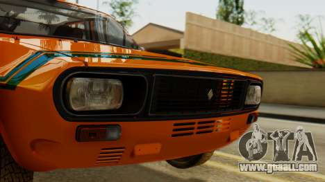 Renault 12 Gordini for GTA San Andreas back left view