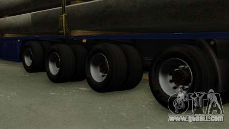 Flatbed3 Blue for GTA San Andreas back left view