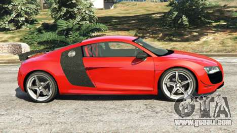 GTA 5 Audi R8 GT 2011 v0.5 [Beta] left side view