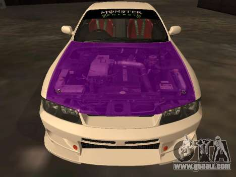 Nissan Skyline R33 Drift Monster Energy JDM for GTA San Andreas bottom view