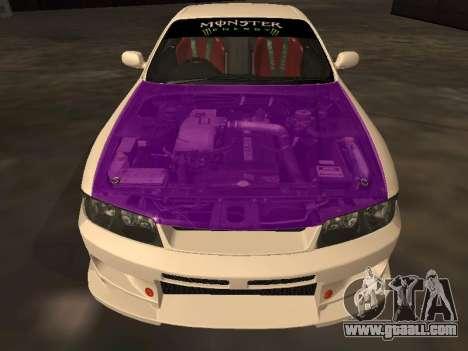 Nissan Skyline R33 Drift Monster Energy JDM for GTA San Andreas bottom view
