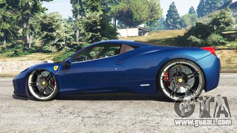 GTA 5 Ferrari 458 Italia v1.0.5 left side view
