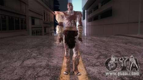 God Of War 3 Kratos Blood for GTA San Andreas second screenshot