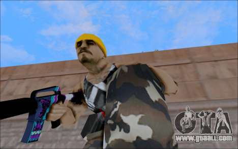 M4A1 Color for GTA San Andreas forth screenshot