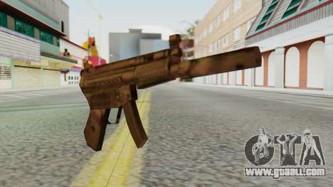 MP5K Silenced SA Style for GTA San Andreas