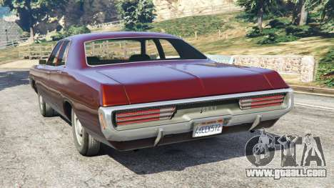 GTA 5 Dodge Polara 1971 rear left side view