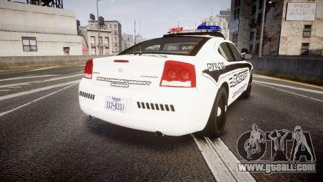 Dodge Charger 2010 New Alderney Sheriff [ELS] for GTA 4 back left view