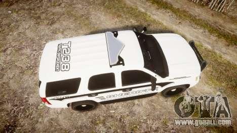 Chevrolet Tahoe 2013 New Alderney Sheriff [ELS] for GTA 4 right view