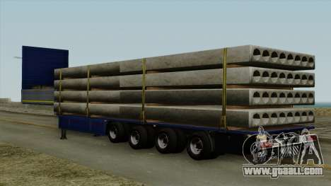 Flatbed3 Blue for GTA San Andreas left view