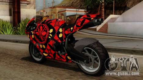 Bati Batik for GTA San Andreas back left view